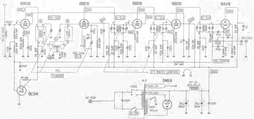 03 古董全胆收音机及电路图